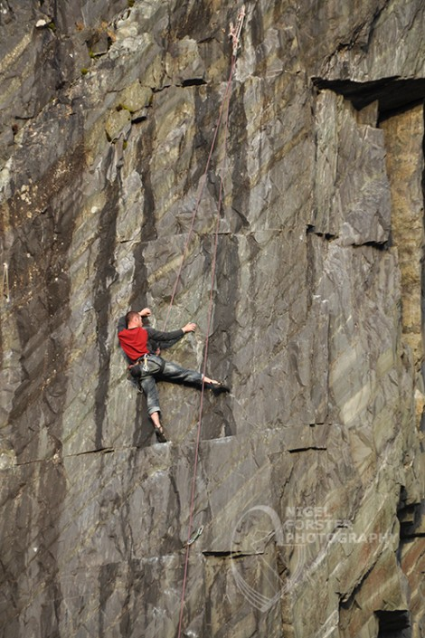 Climber in Snowdonia. Image for Visit Wales