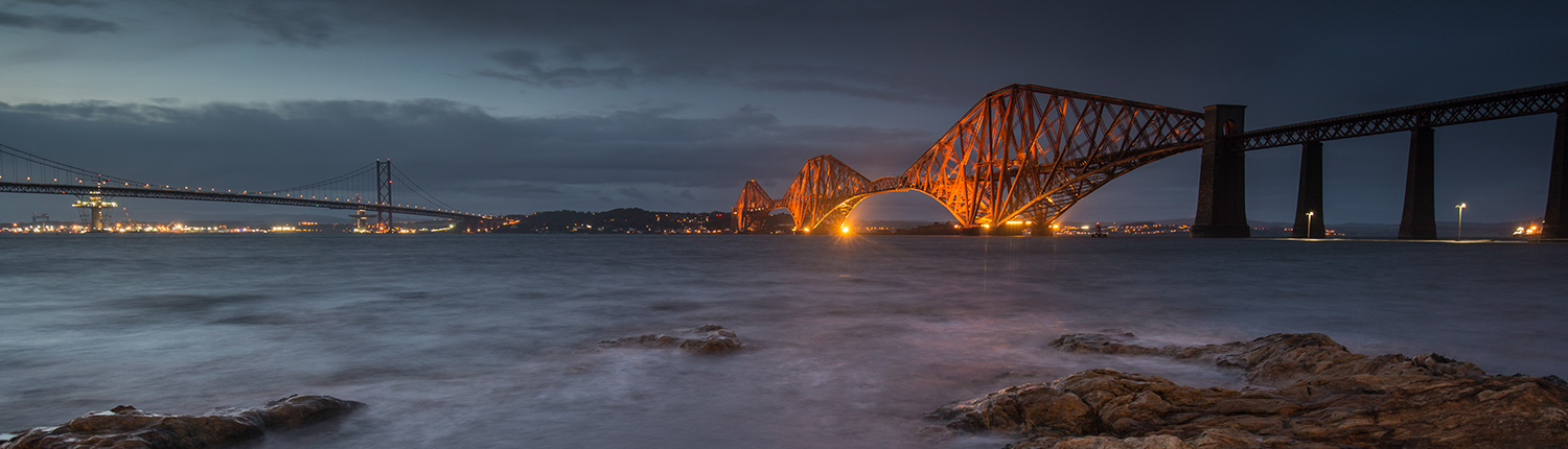 Forth Rail Bridge; Firth of Forth; Forth Bridge; Scotland; Scottish landscapes; Queensferry; Forth Road Bridge; Scottish heritage; Forth Rail bridge canvas; Forth rail bridge canvas print; Forth bridge canvas; Forth bridge night; Queensferry canvas; Two bridges over Forth; Forth Bridge sunset; Architectural Photography; Tourism photography; UK Tourism Photography; British Architectural Photography; Publicity and Promotion Photography; Night Photography; Wales Tourism Photography; UK promotional Photography; people on location photography