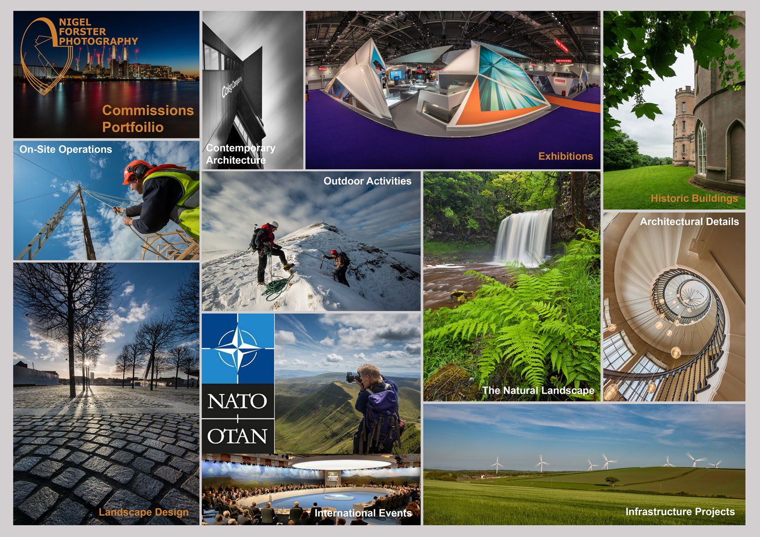 Nigel Forster Photography Commissions Cover Sheet