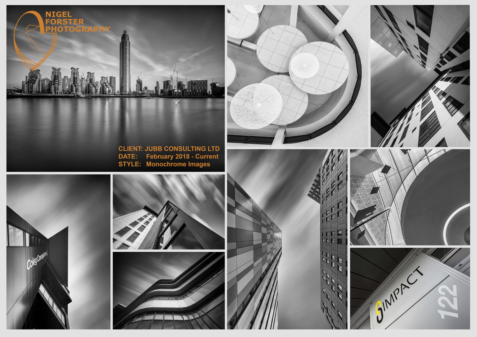 Architecture, Infrastructure and Design Photography for Jubb Consulting 2018